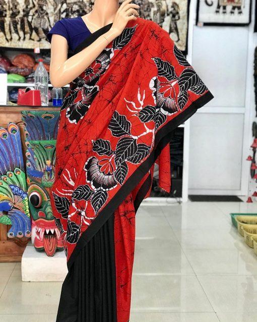 cotton batik saree 01