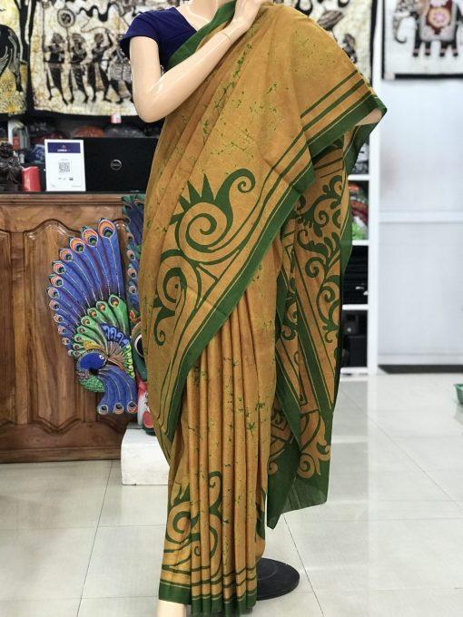 cotton batik saree 04