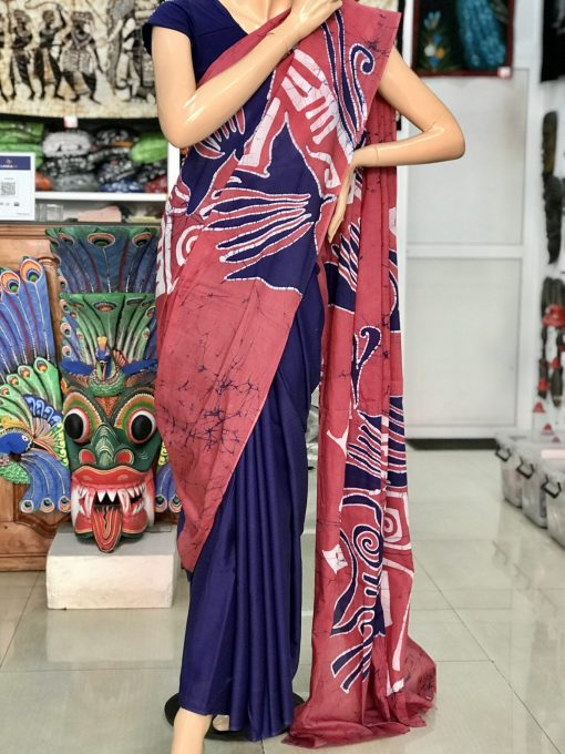 cotton batik saree 24