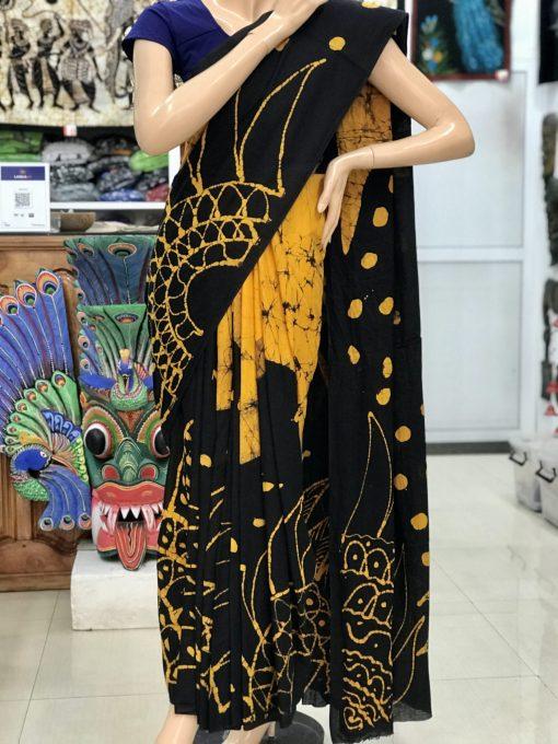 cotton batik saree 20