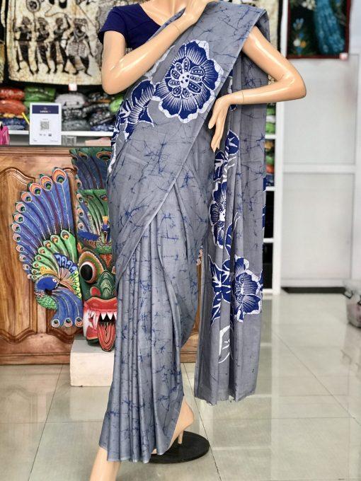cotton batik saree 26