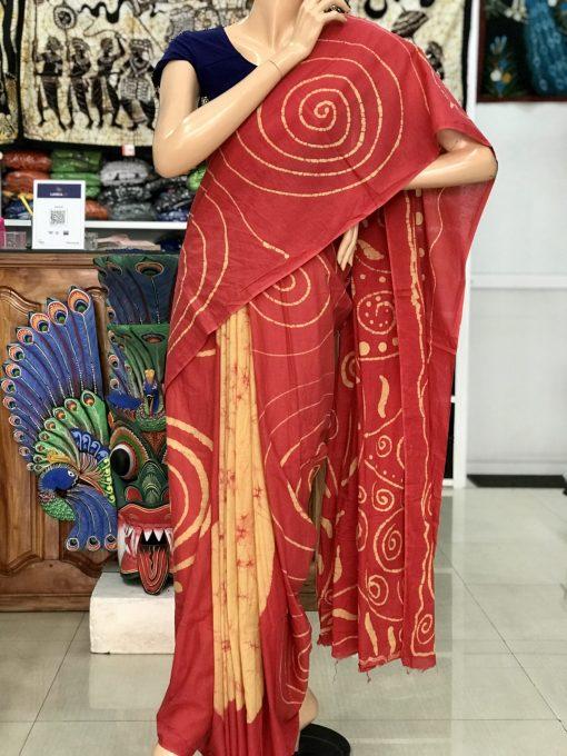 cotton batik saree 13