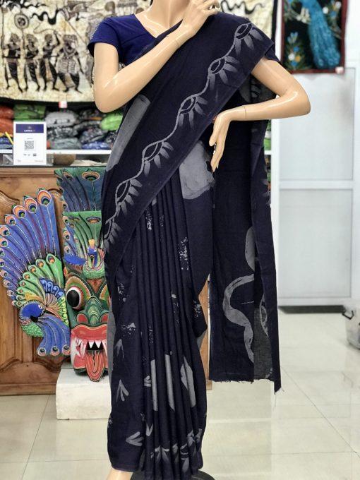 cotton batik saree 19