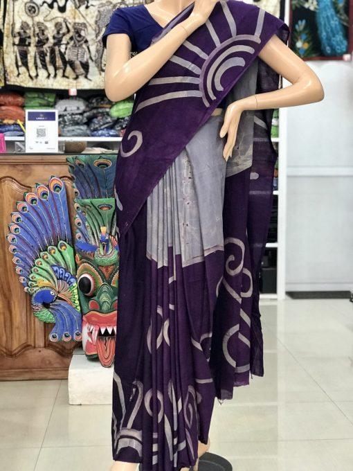 cotton batik saree 18