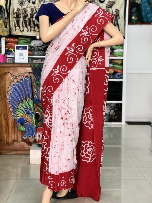 cotton batik saree 10