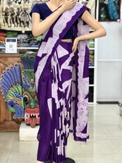 cotton batik saree 16