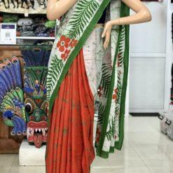 cotton batik saree 29