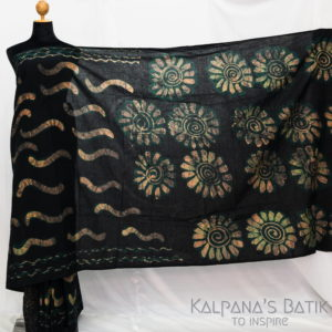 Cotton Batik Saree -70-1