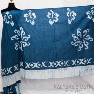 Cotton Batik Saree -72-1