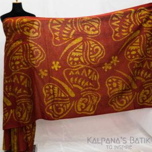 Cotton Batik Saree -74-1