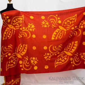 Cotton Batik Saree -75-1