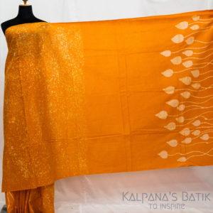 Cotton Batik Saree -76-1