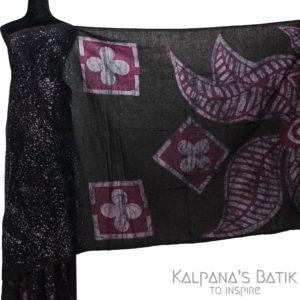 Cotton Batik Saree -87