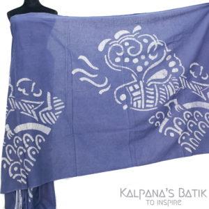 Cotton Batik Saree -91.1