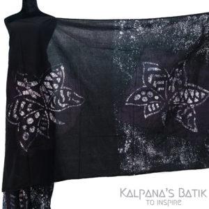 Cotton Batik Saree -93